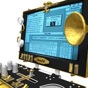 Ordinateur portable steampunk 3d model