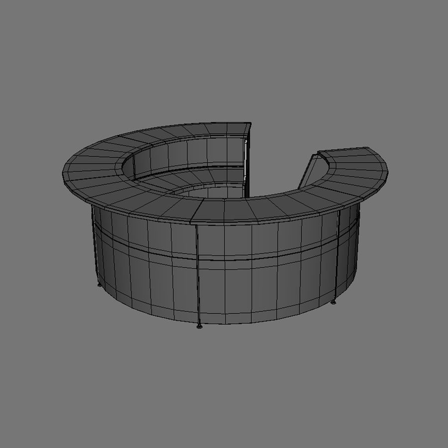 Receptie royalty-free 3d model - Preview no. 6