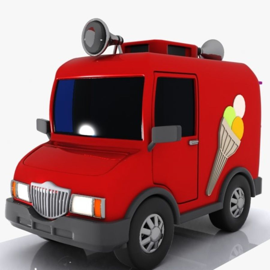 Cartoon Icecream Truck royalty-free 3d model - Preview no. 3