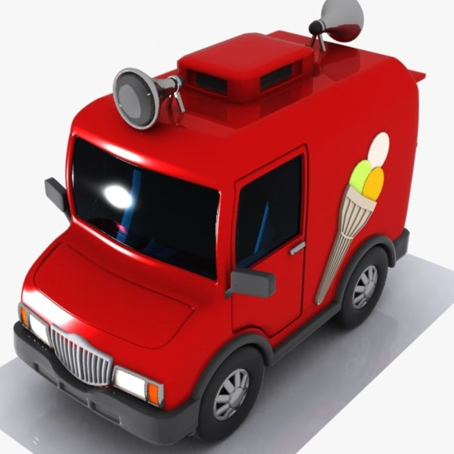 Cartoon Icecream Truck royalty-free 3d model - Preview no. 1