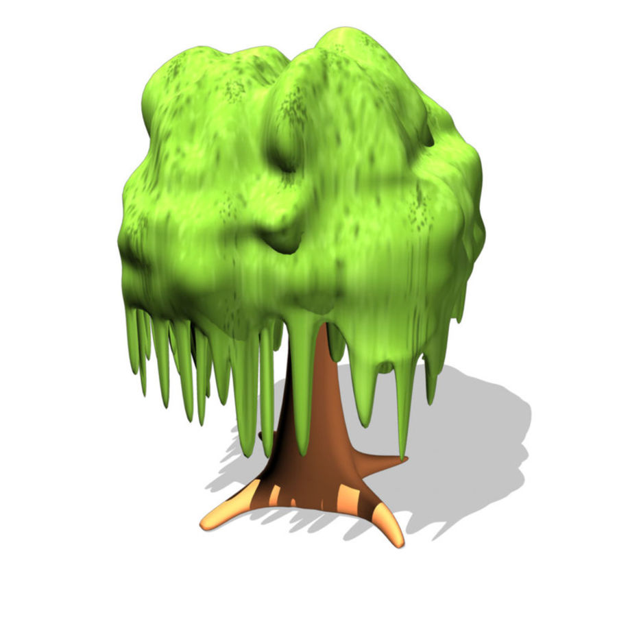 cartoon_tree royalty-free 3d model - Preview no. 2
