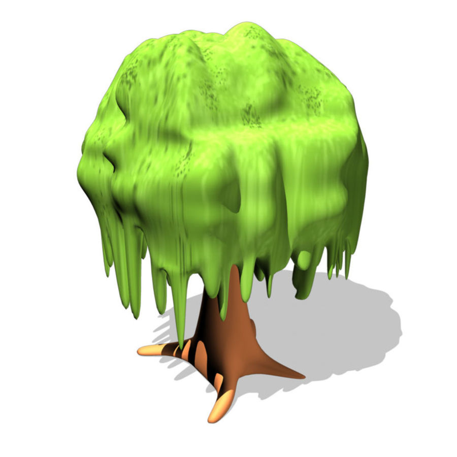 cartoon_tree royalty-free 3d model - Preview no. 1