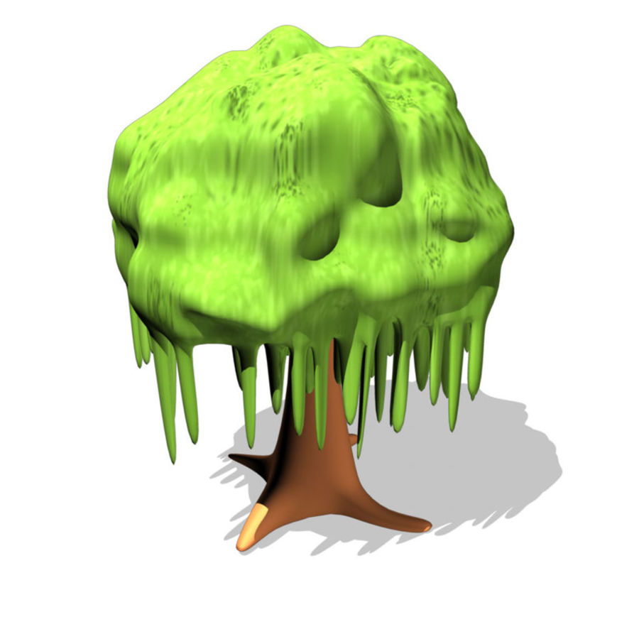 cartoon_tree royalty-free 3d model - Preview no. 4