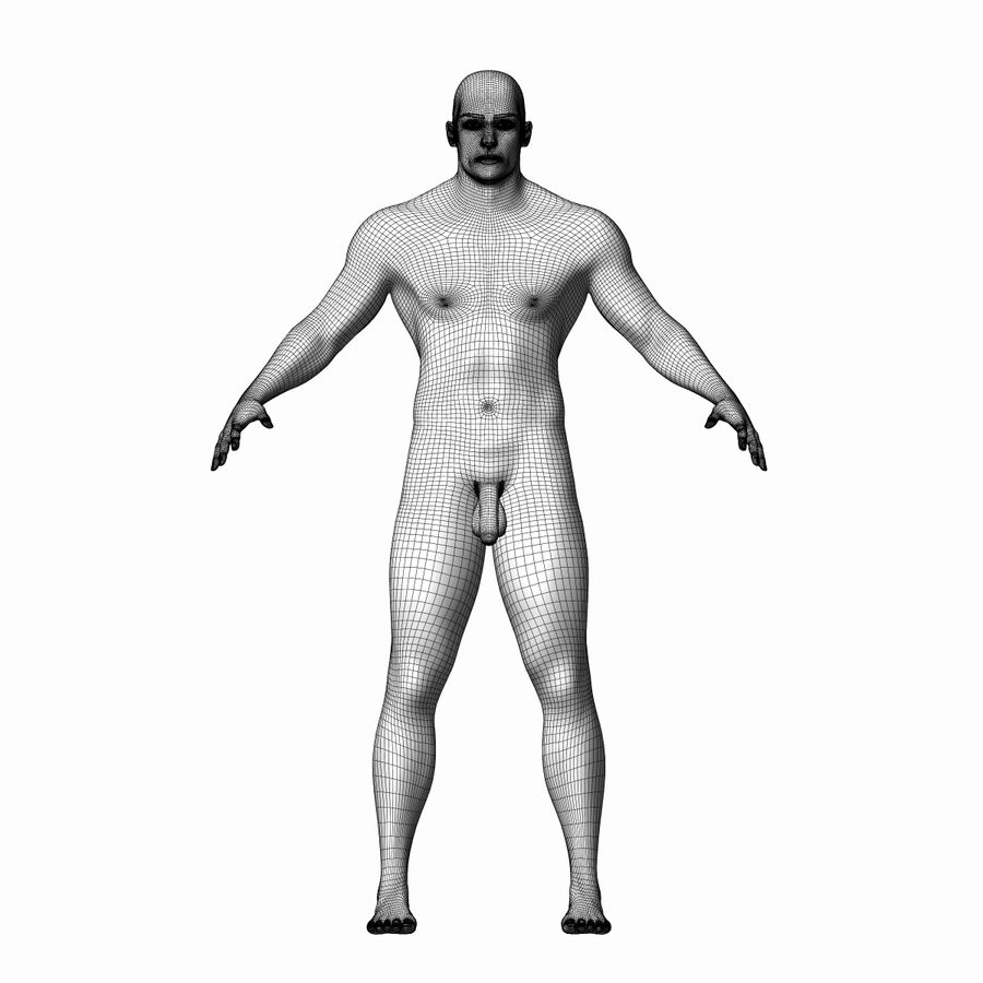 Human Male Character royalty-free 3d model - Preview no. 7