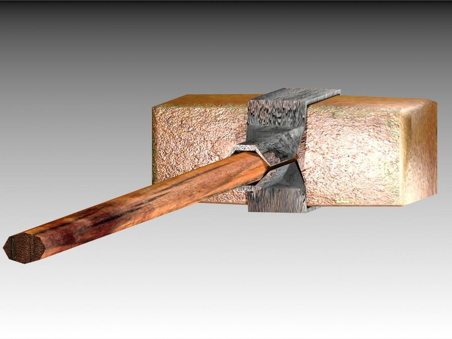 Bronze Hammer royalty-free 3d model - Preview no. 5