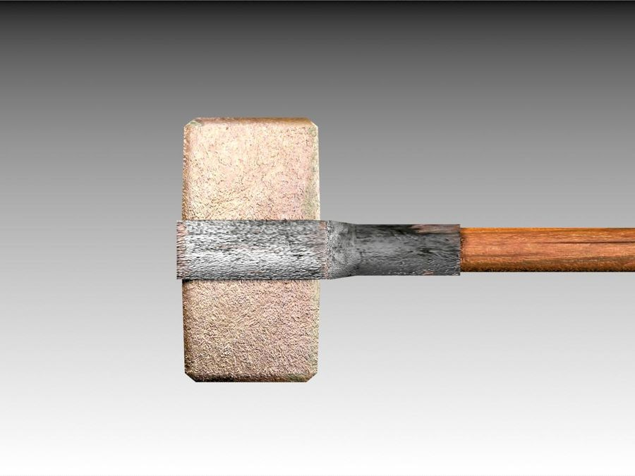 Bronze Hammer royalty-free 3d model - Preview no. 4