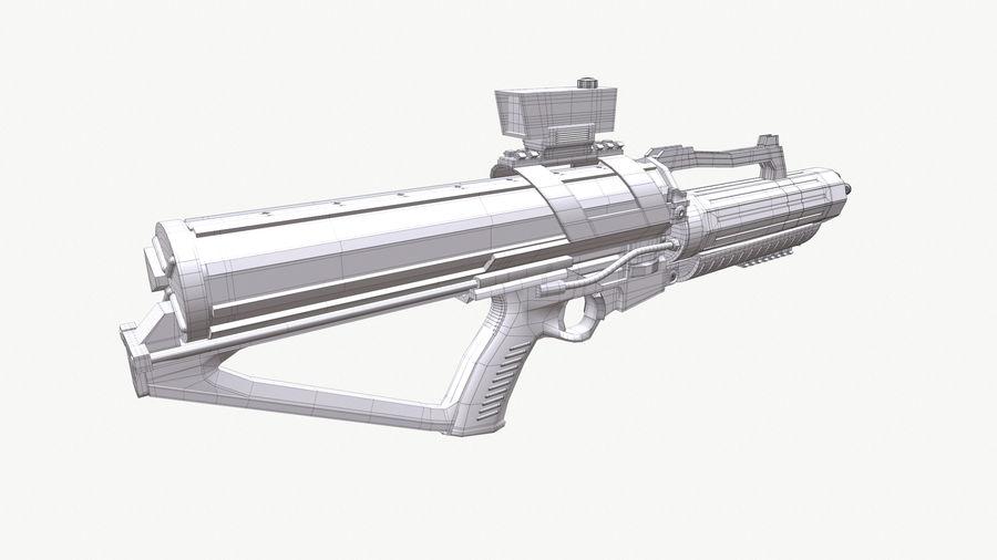 Calico Minigun Rifle royalty-free 3d model - Preview no. 9