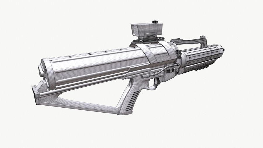 Calico Minigun Rifle royalty-free 3d model - Preview no. 8