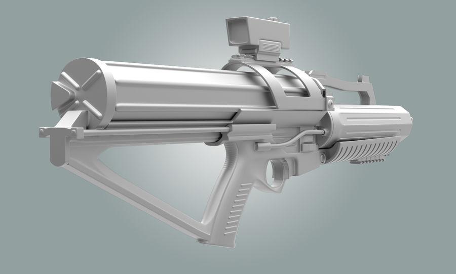 Calico Minigun Rifle royalty-free 3d model - Preview no. 6