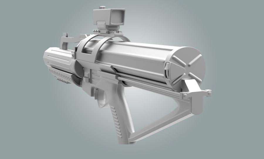 Calico Minigun Rifle royalty-free 3d model - Preview no. 2