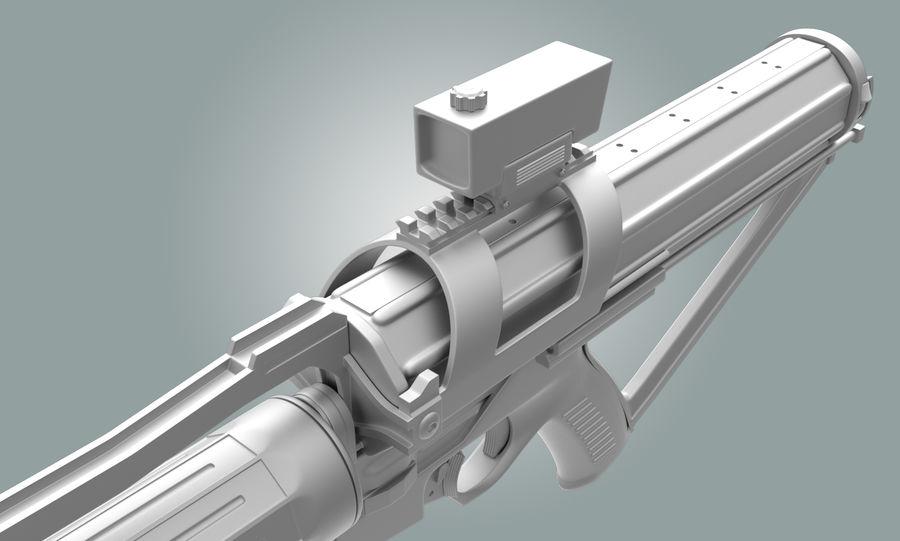 Calico Minigun Rifle royalty-free 3d model - Preview no. 7