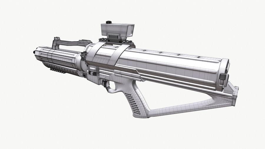 Calico Minigun Rifle royalty-free 3d model - Preview no. 10