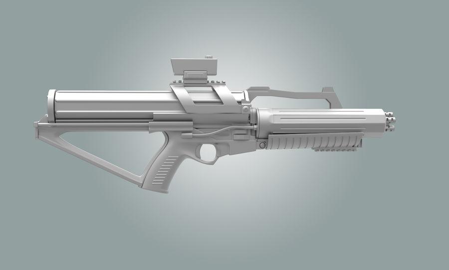 Calico Minigun Rifle royalty-free 3d model - Preview no. 5