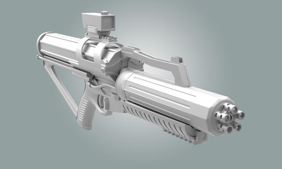 Calico Minigun Rifle royalty-free 3d model - Preview no. 1