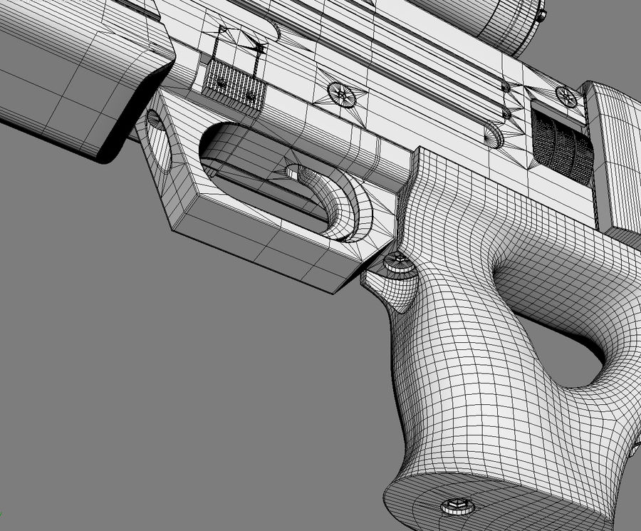 Walther WA2000 No Materials royalty-free 3d model - Preview no. 8