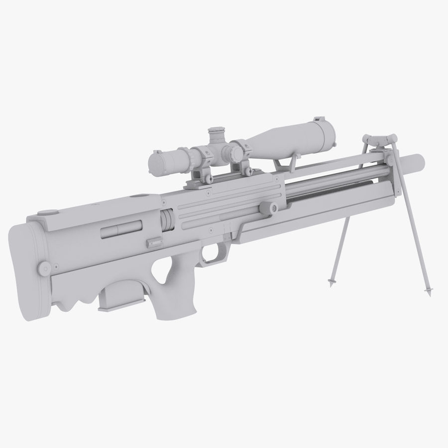 Walther WA2000 No Materials royalty-free 3d model - Preview no. 1