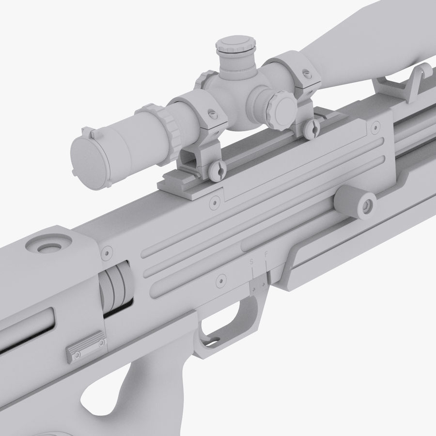 Walther WA2000 No Materials royalty-free 3d model - Preview no. 3