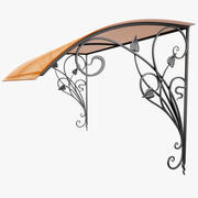Wrought Iron Awning 12 3d model