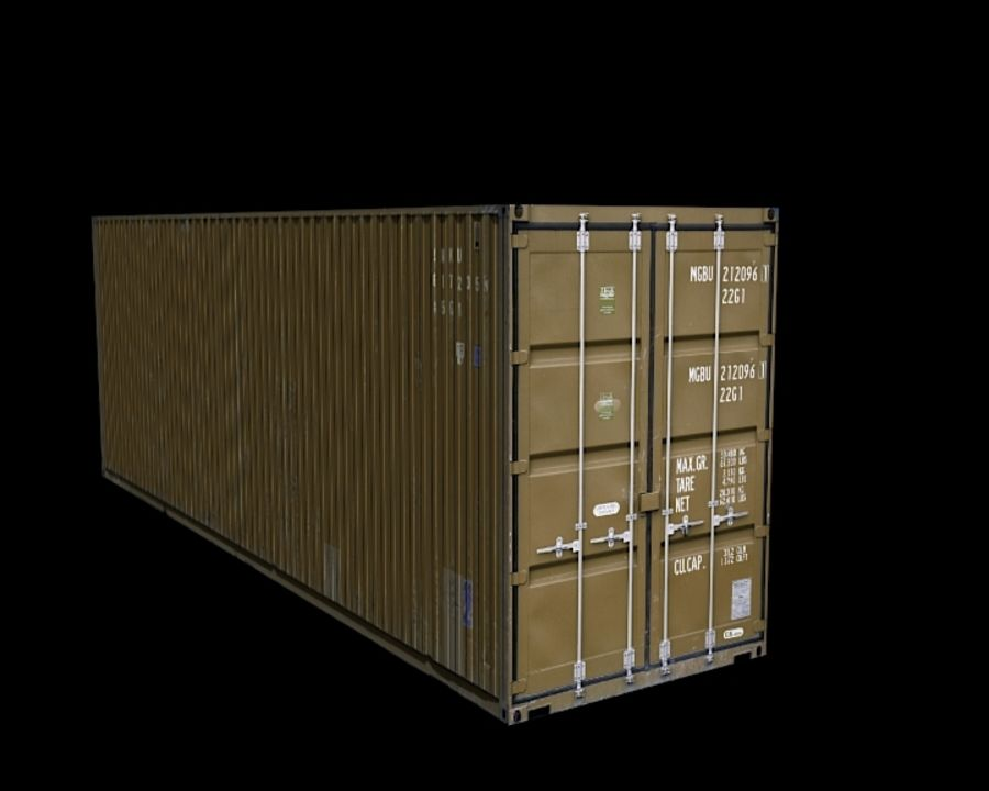Container royalty-free 3d model - Preview no. 8