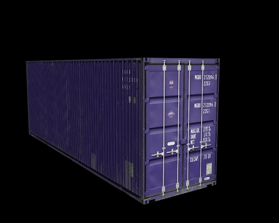 Container royalty-free 3d model - Preview no. 6
