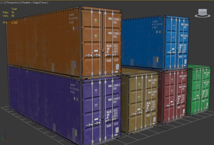 Container royalty-free 3d model - Preview no. 9