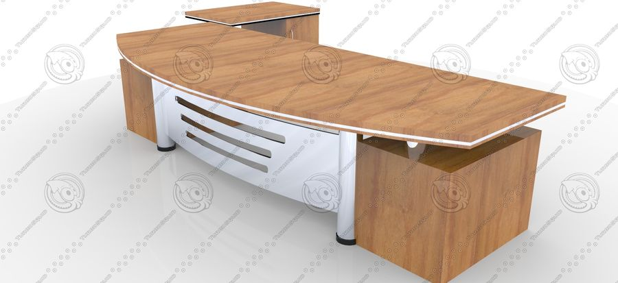 Office Furniture Table royalty-free 3d model - Preview no. 1