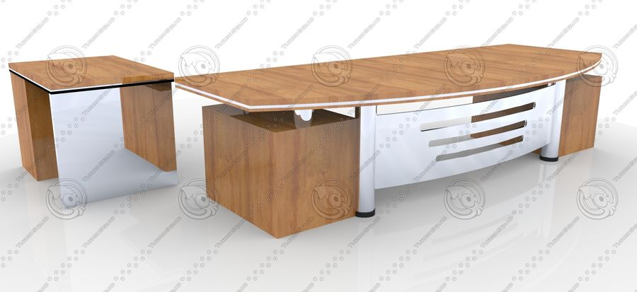 Office Furniture Table royalty-free 3d model - Preview no. 4