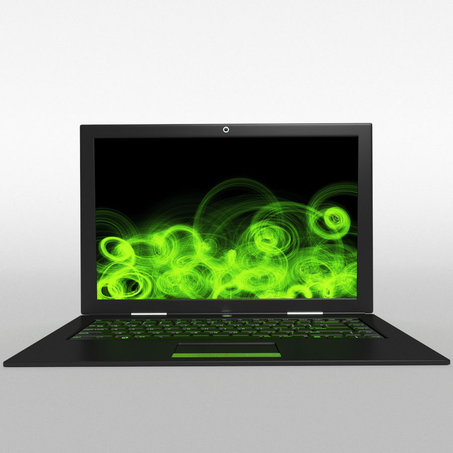 Gaming Laptop royalty-free 3d model - Preview no. 2