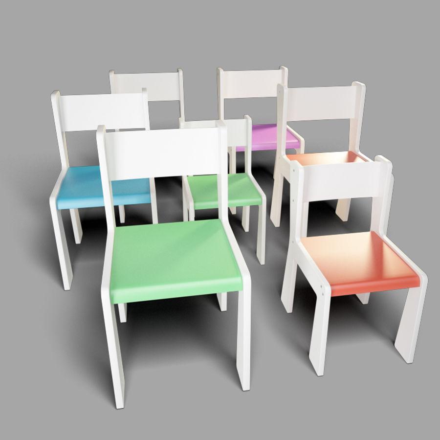 mobília para crianças jardim de infância royalty-free 3d model - Preview no. 4