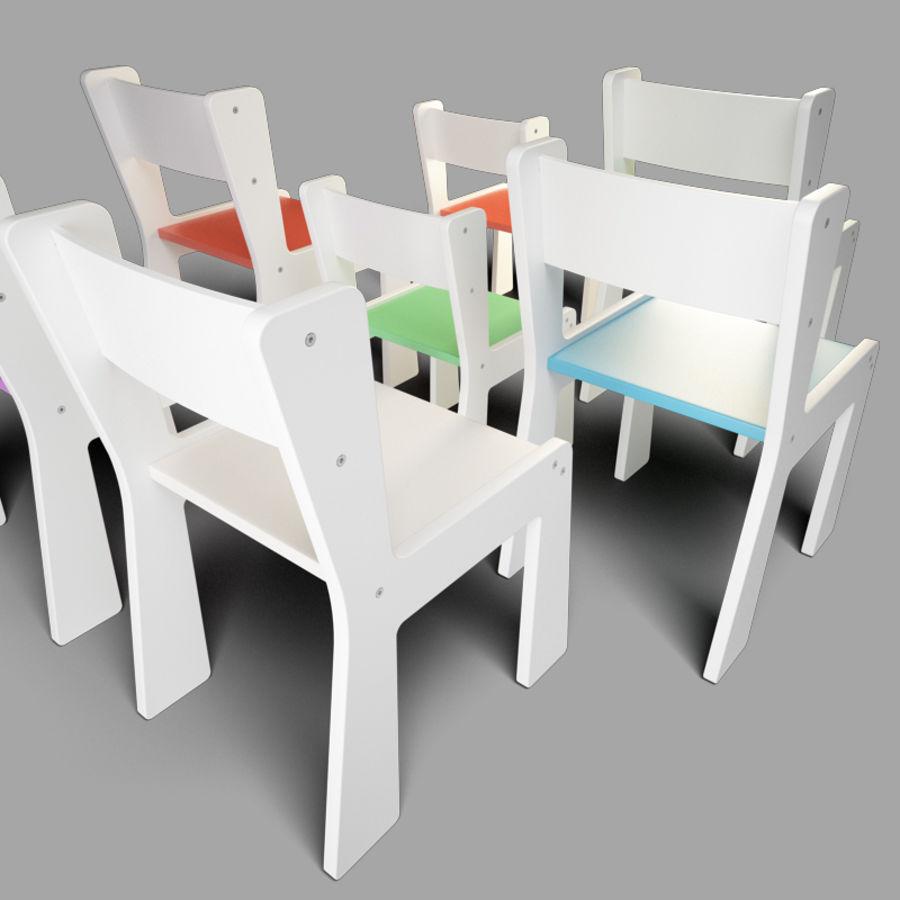 mobília para crianças jardim de infância royalty-free 3d model - Preview no. 6