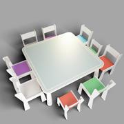 mobília para crianças jardim de infância 3d model