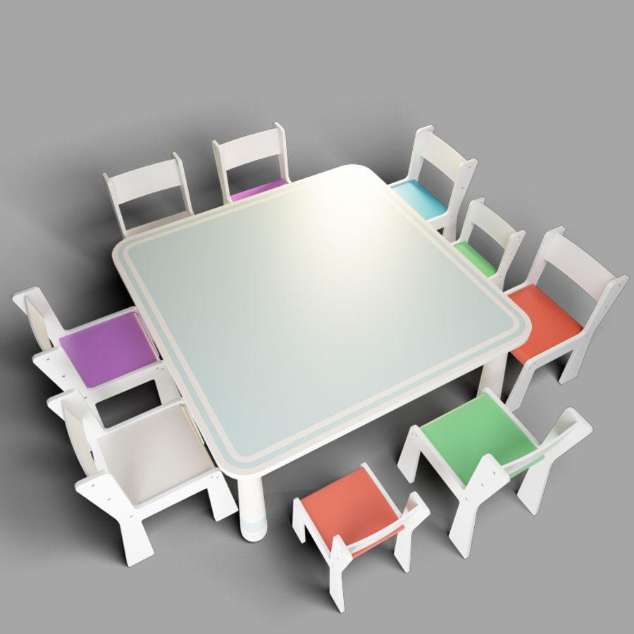 mobília para crianças jardim de infância royalty-free 3d model - Preview no. 1