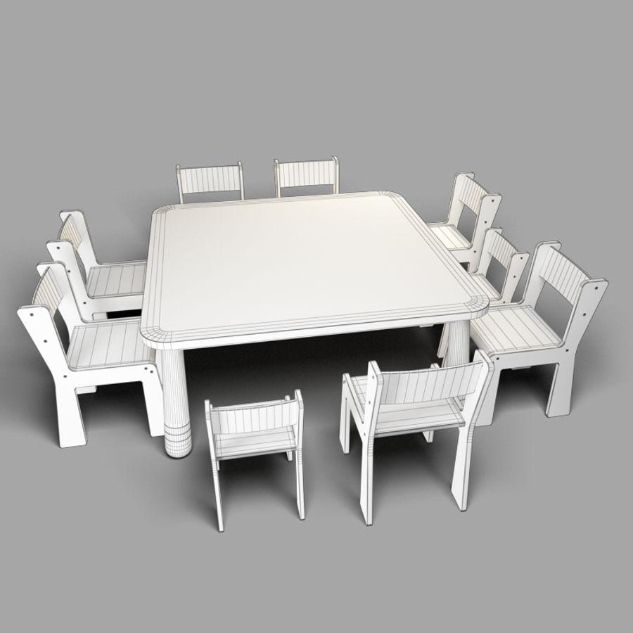 mobília para crianças jardim de infância royalty-free 3d model - Preview no. 7