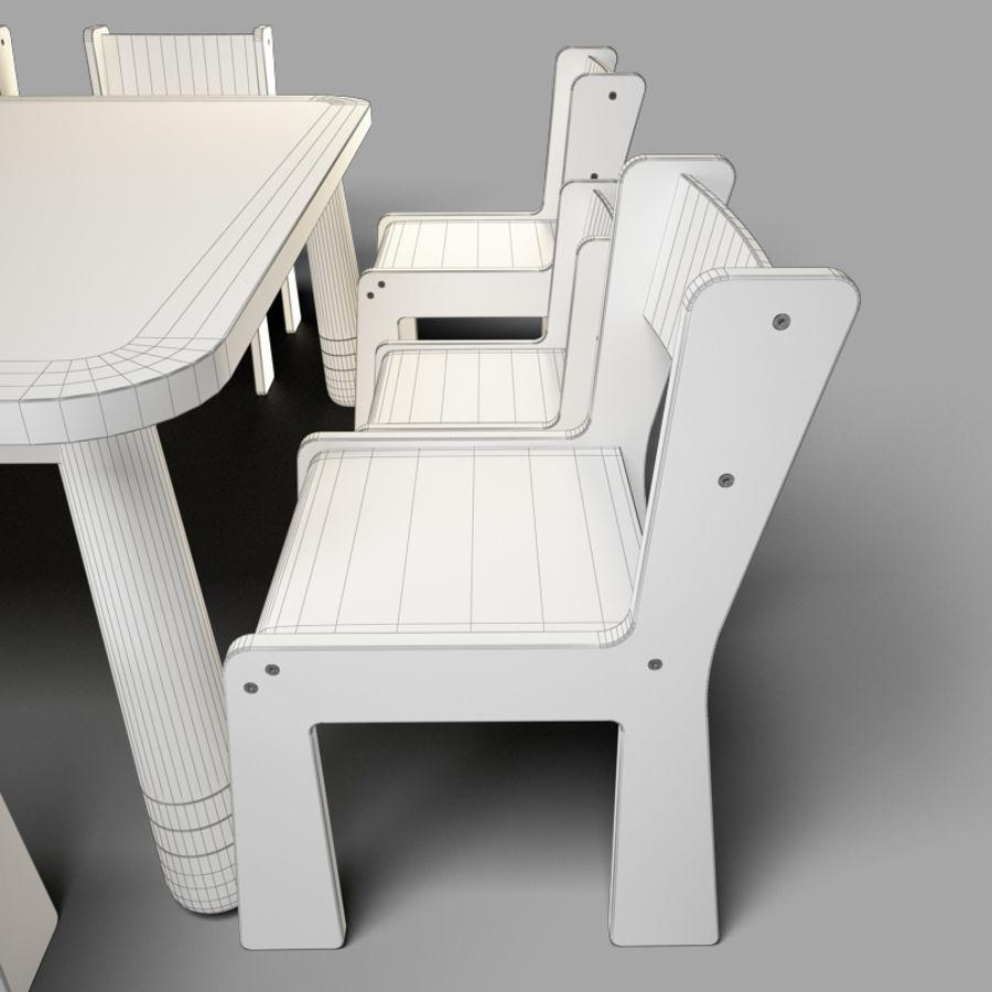 mobília para crianças jardim de infância royalty-free 3d model - Preview no. 8