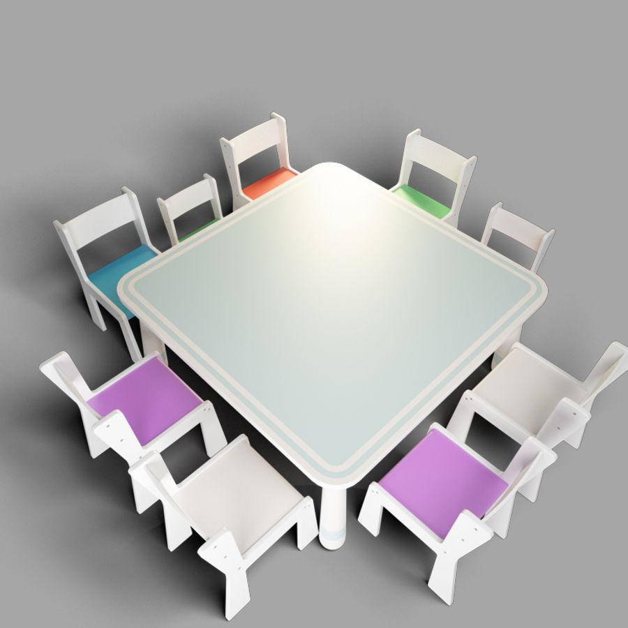 mobília para crianças jardim de infância royalty-free 3d model - Preview no. 2