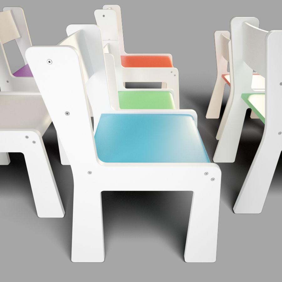 mobília para crianças jardim de infância royalty-free 3d model - Preview no. 5