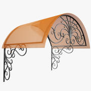 Wrought Iron Awning 1 3d model