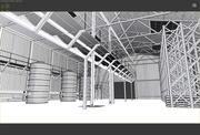 industrial warehouse 3d model