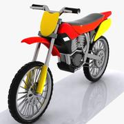 Cartoon Motocross 1 3d model