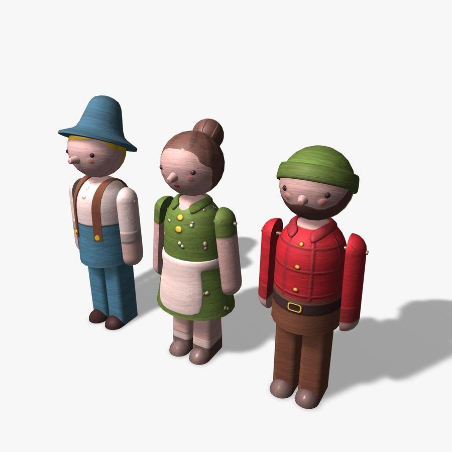 Postacie z zabawek royalty-free 3d model - Preview no. 2