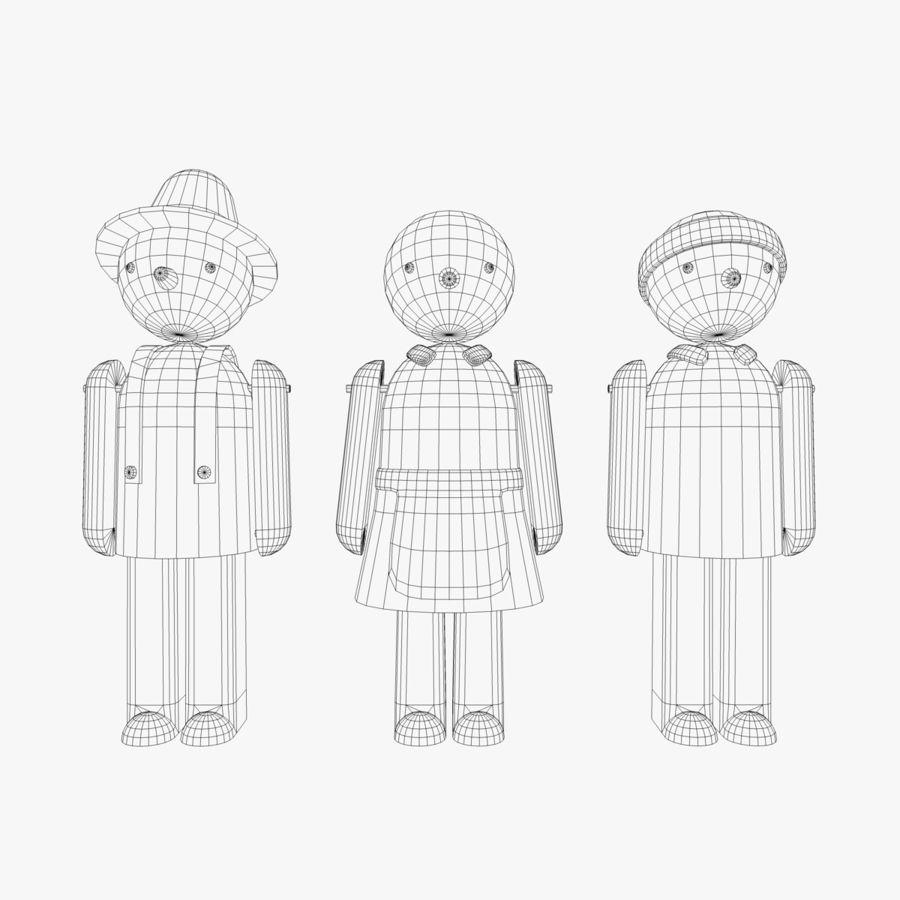 Postacie z zabawek royalty-free 3d model - Preview no. 4