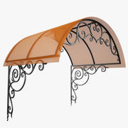 Wrought Iron Awning 5 3d model