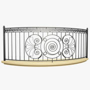 Wrought Iron Balcony 6 3d model