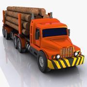 卡通原木运输车LHV 3d model