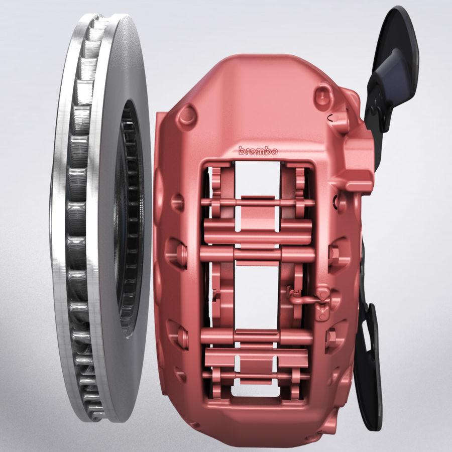 Brembo Brakes v1 royalty-free 3d model - Preview no. 6