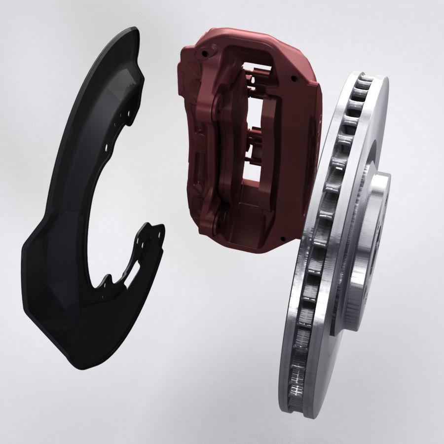 Brembo Brakes v1 royalty-free 3d model - Preview no. 3