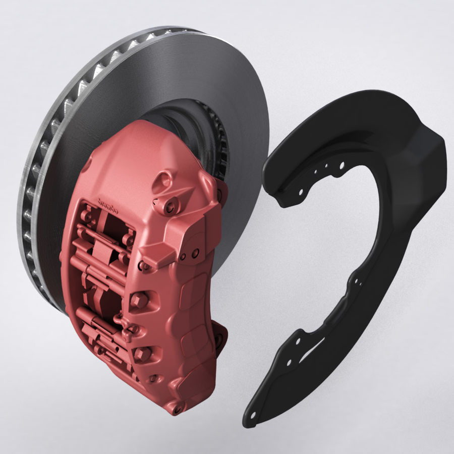 Brembo Brakes v1 royalty-free 3d model - Preview no. 5