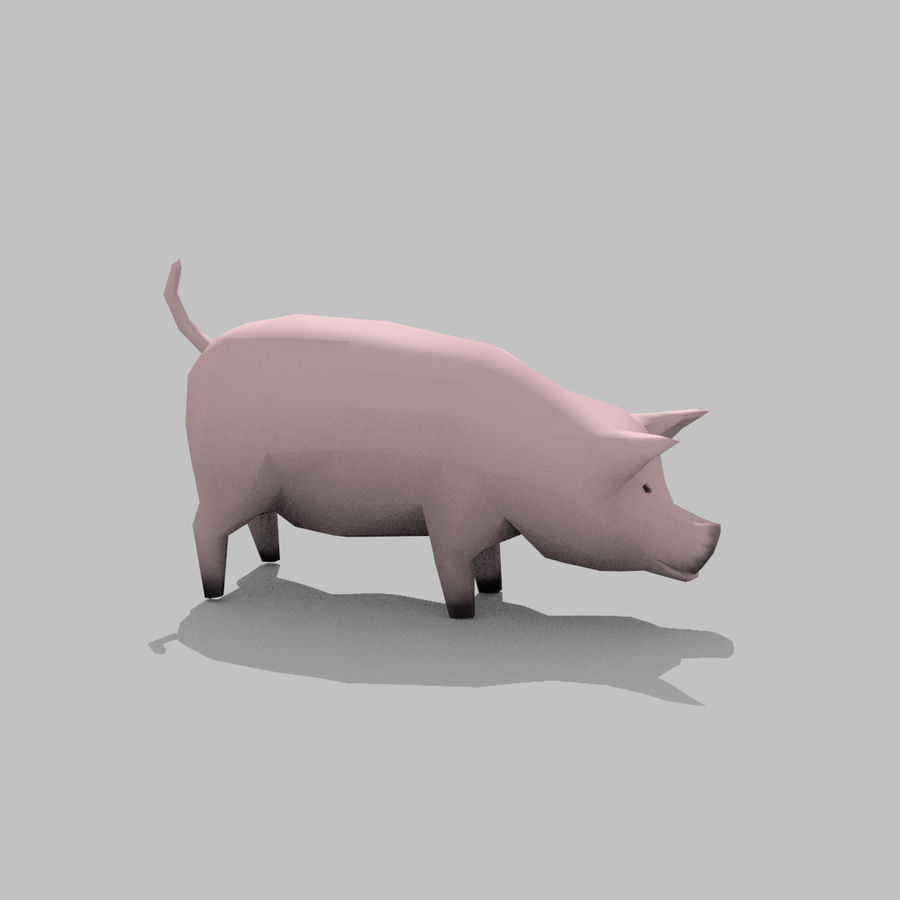Pig royalty-free 3d model - Preview no. 9