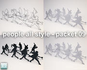 people all style - packet 09 3d model