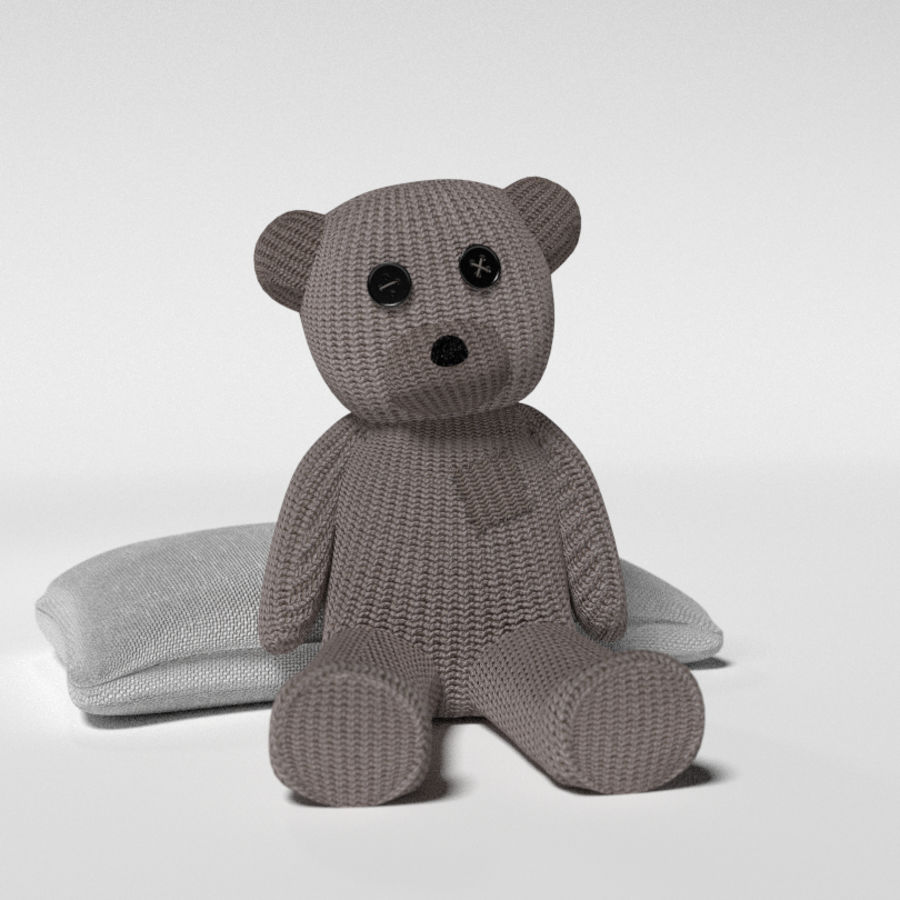Urso recheado royalty-free 3d model - Preview no. 1